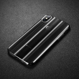 1075-Luxury Aurora Gradient Hard PC Plastic  Case For iPhone