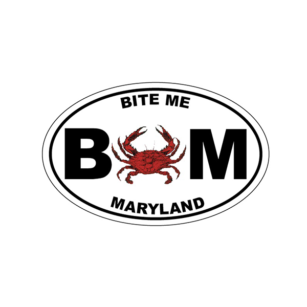 Bite Me Maryland Crab Decal - Maryland O Mine