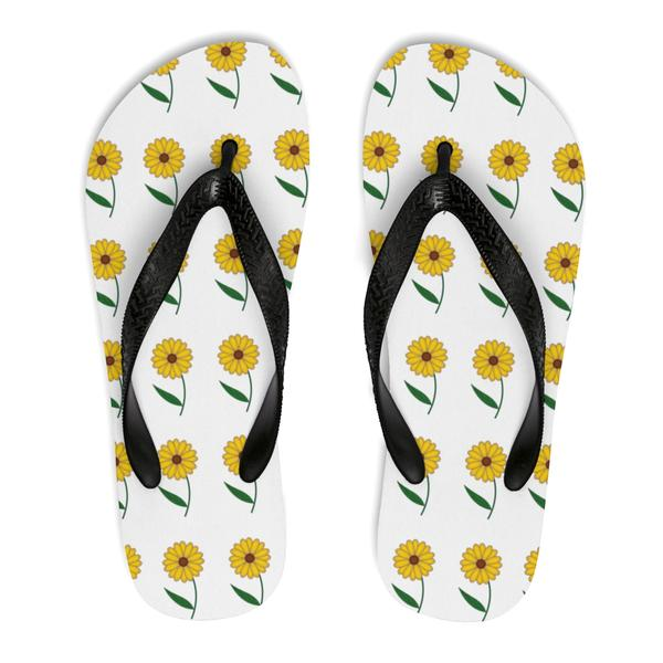 Black Eyed Susan Flip Flops - Maryland O Mine