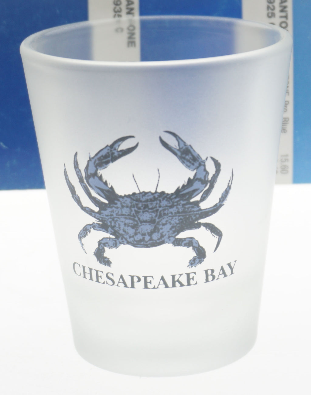 Chesapeake Bay Frosted Shot Glass - Maryland O Mine