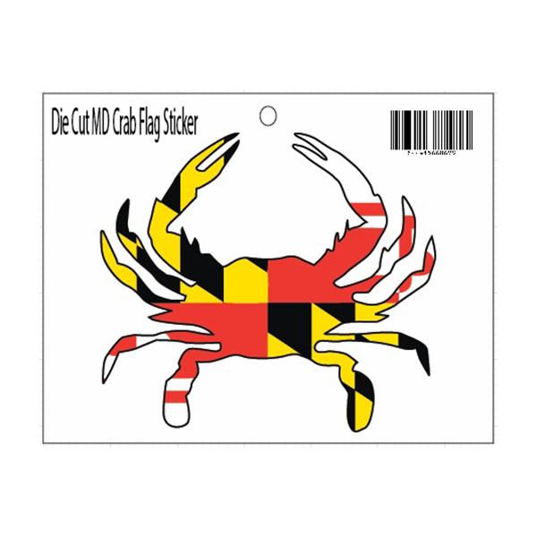 Maryland Flag Crab Decal Sticker - Maryland O Mine