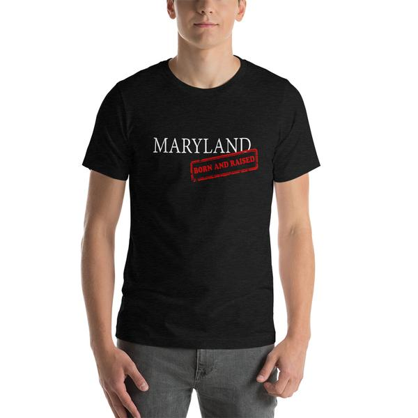 Maryland Born and Raised T-Shirt - Black - Maryland O Mine