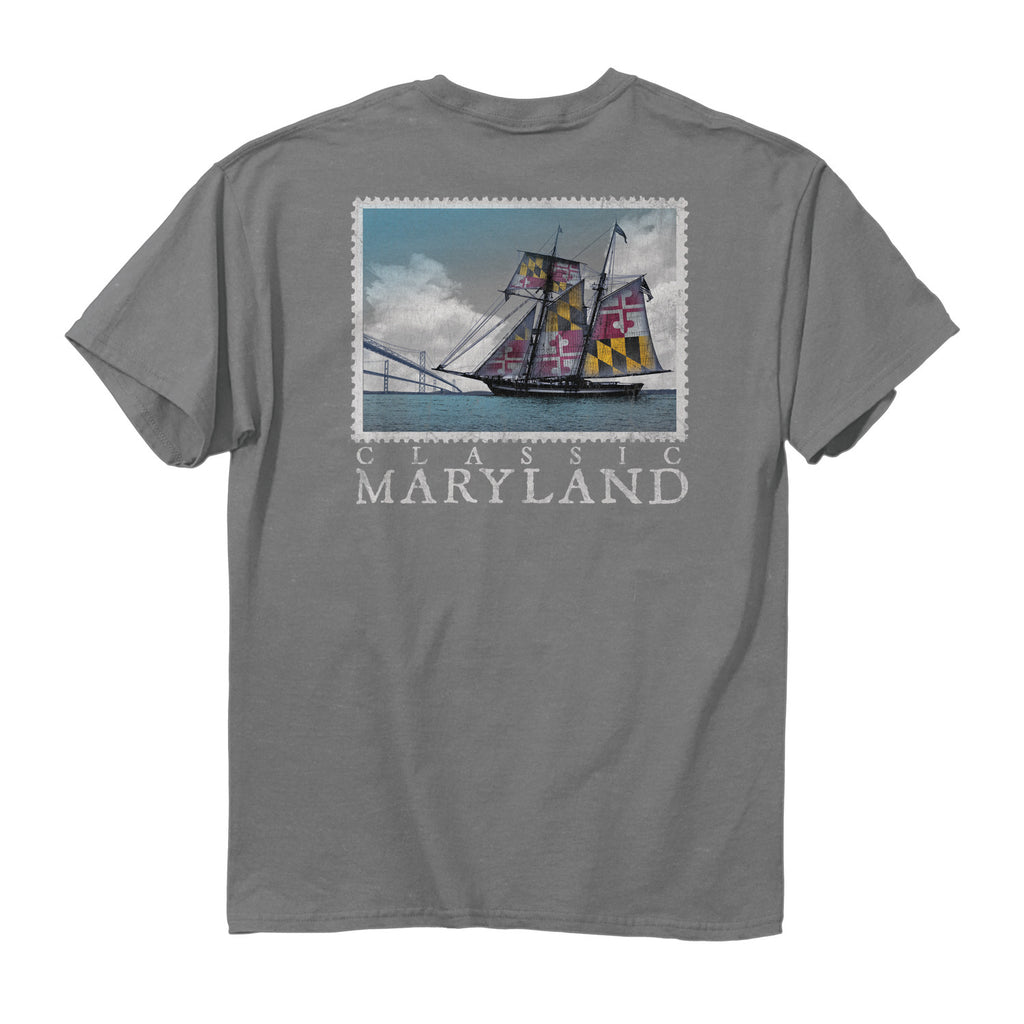Maryland Classic Skipjack T-Shirt - Maryland O Mine