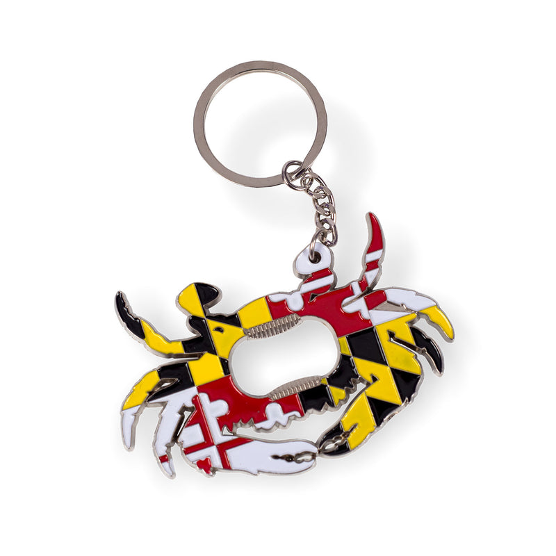 Maryland Crab Bottle Opener Key Ring - Maryland O Mine