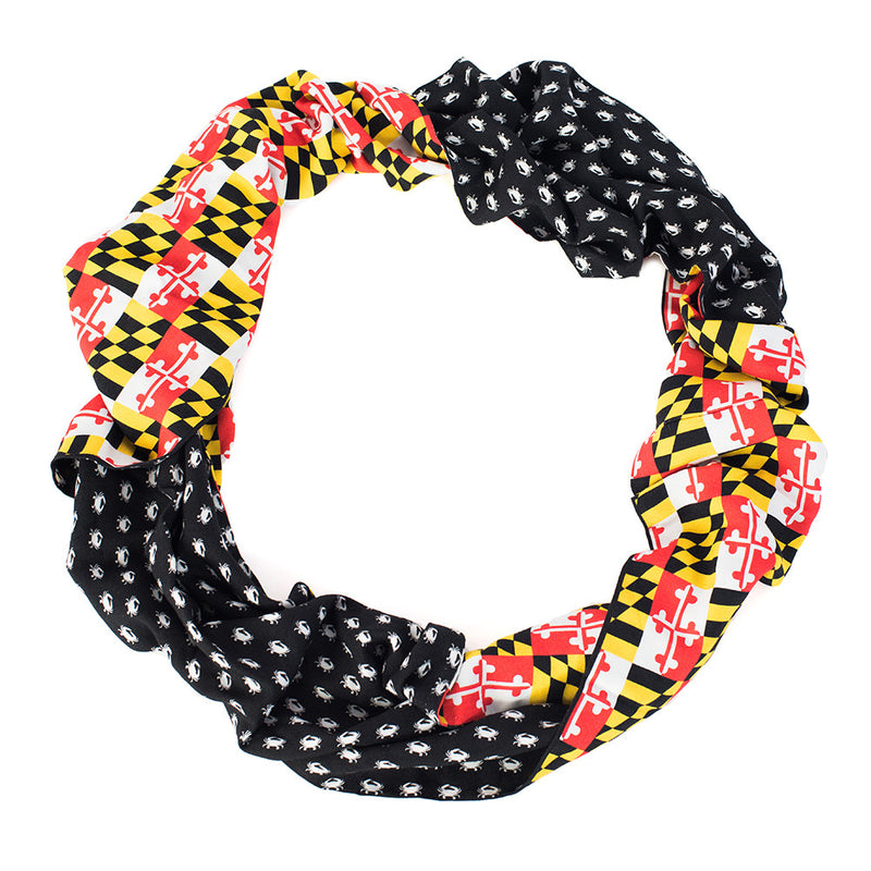 Maryland Crab Reversible Infinity Scarf - Maryland O Mine