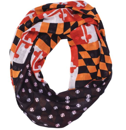 Maryland Flag Baseball Infinity Scarf - Maryland O Mine
