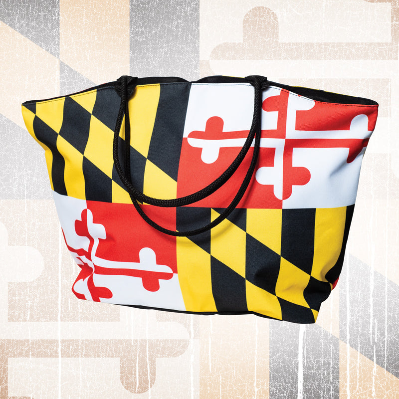 Maryland Flag Beach Tote Bag - Maryland O Mine