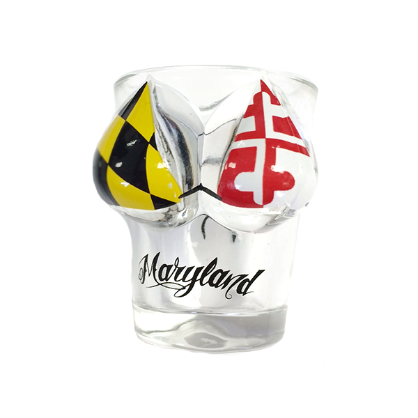 Maryland Flag Bikini Top Shot Glass - Maryland O Mine