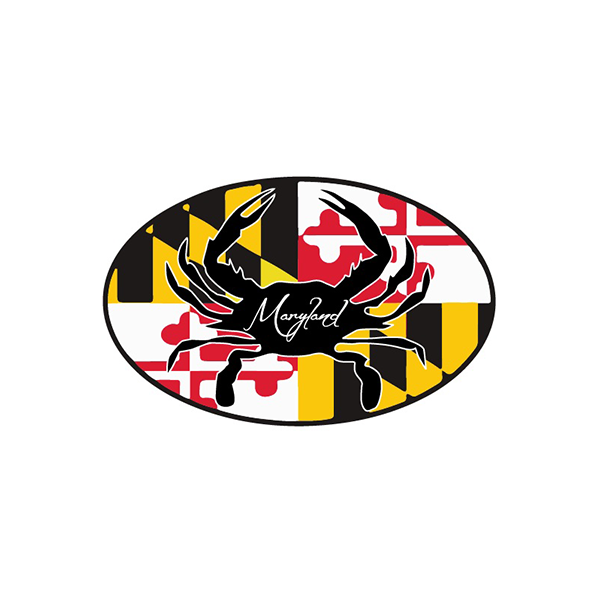 Maryland Flag Black Crab Decal - Maryland O Mine