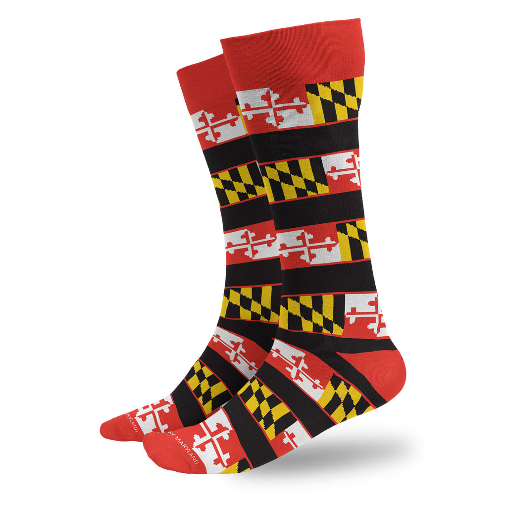 Maryland Flag Black Stripes Dress Socks - Maryland O Mine