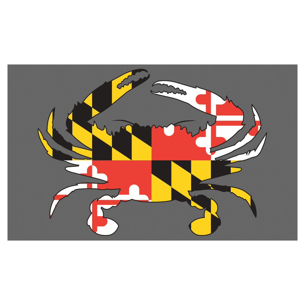 Maryland Flag Crab Floor Mat - Maryland O Mine