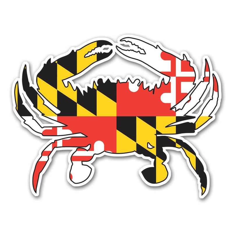 Maryland Flag Crab Magnet - Maryland O Mine