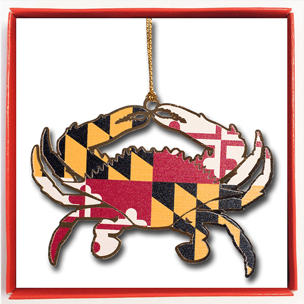 Maryland Flag Crab Ornament - Maryland O Mine