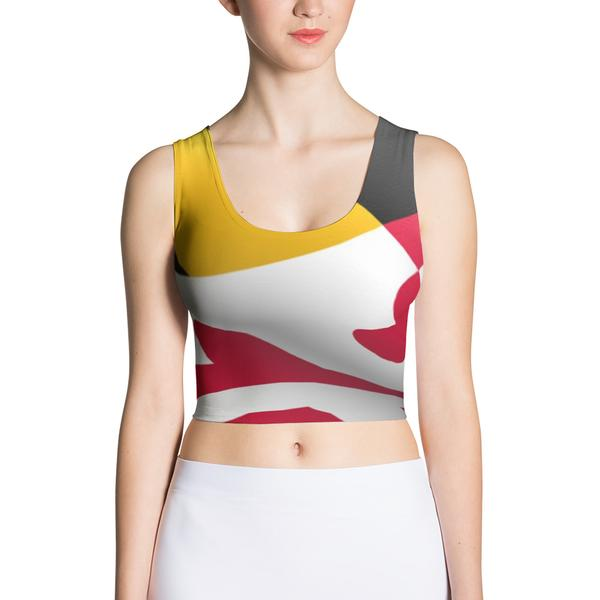 Maryland Flag Crop Top - Maryland O Mine