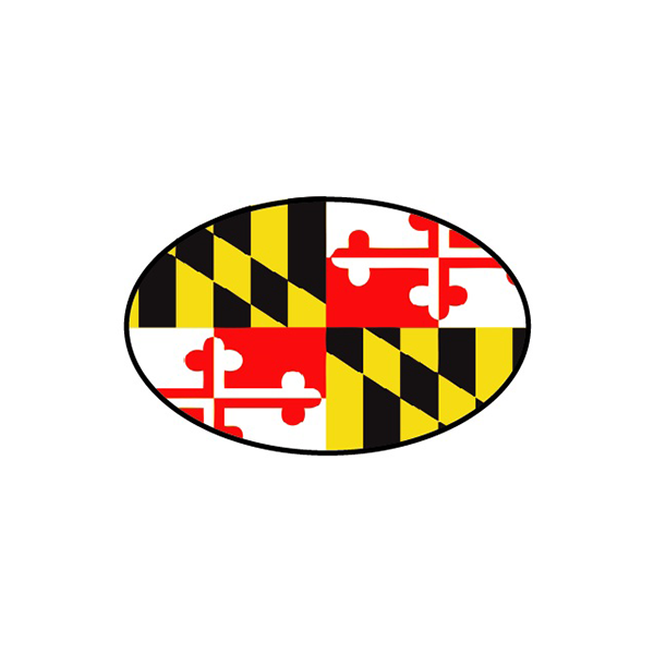 Maryland Flag Oval Decal - Maryland O Mine