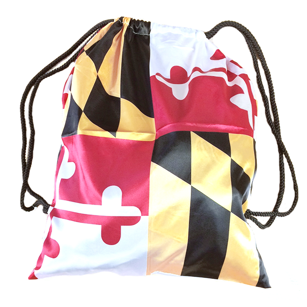 Maryland Flag Drawstring Bag - Maryland O Mine