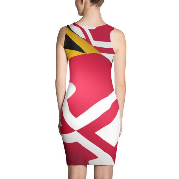 Maryland Flag Fitted Dress - Maryland O Mine