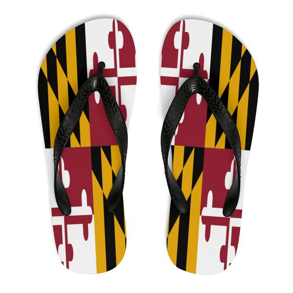 Maryland Flag Flip Flops - Maryland O Mine