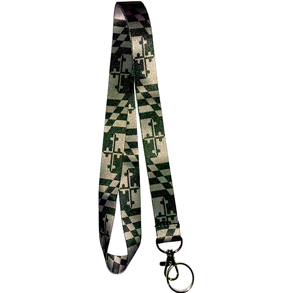 Maryland Flag Grey Scale Lanyard - Maryland O Mine