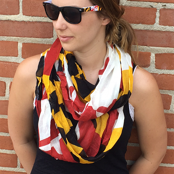 Maryland Flag Infinity Scarf - Maryland O Mine