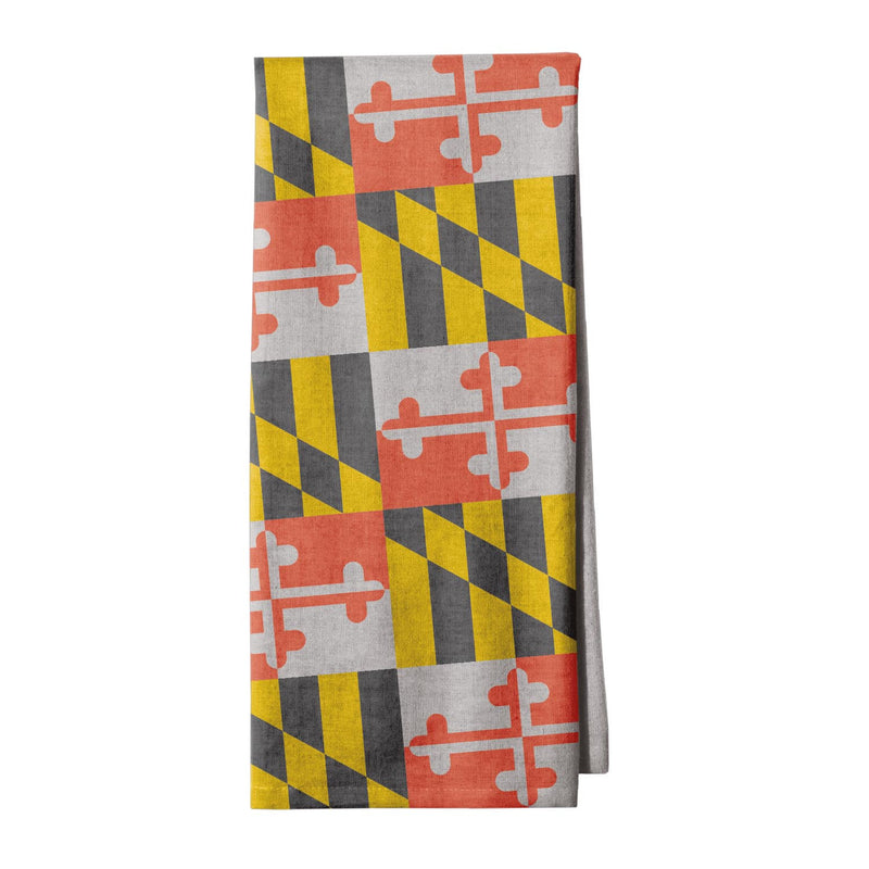 Maryland Flag Kitchen Towel - Maryland O Mine