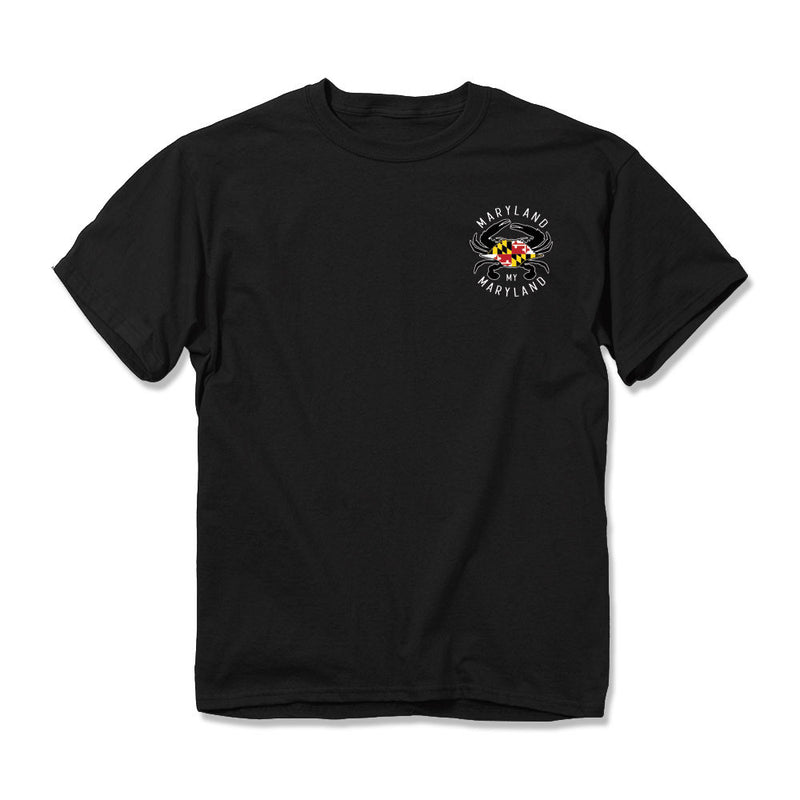 Maryland Flag Lab T-Shirt - Front - Maryland O Mine