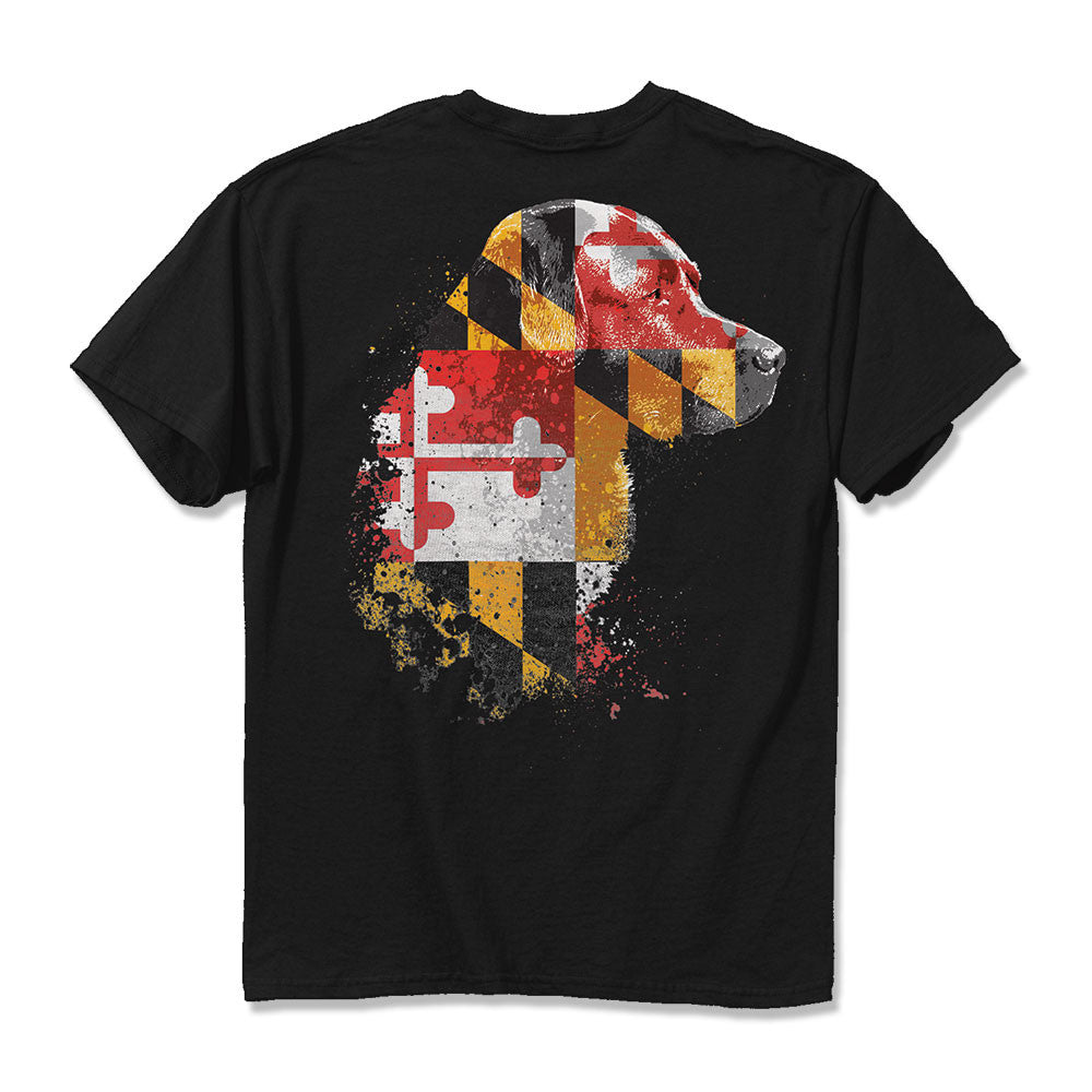 Maryland Flag Lab T-Shirt - Maryland O Mine