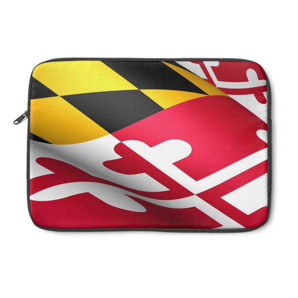 Maryland Flag Laptop Sleeve - Maryland O Mine