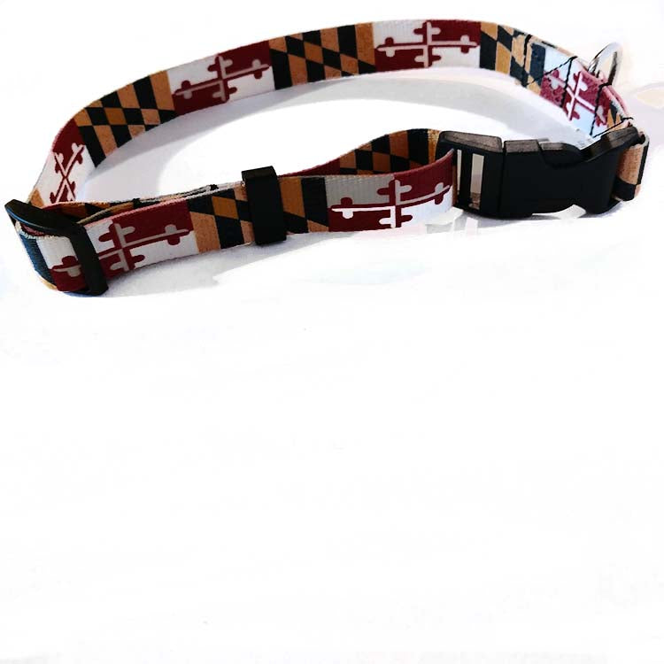 Maryland Flag Dog Collar - Maryland O Mine