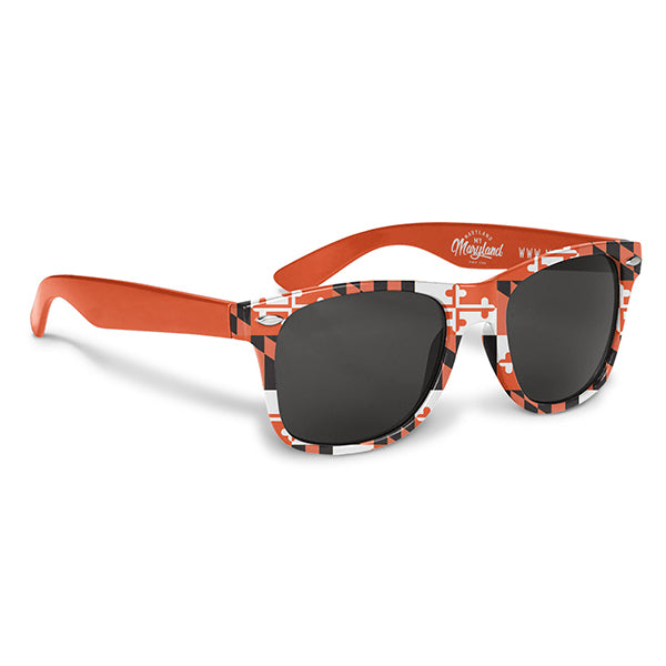 Maryland Flag Orange Sunglasses | Maryland O Mine