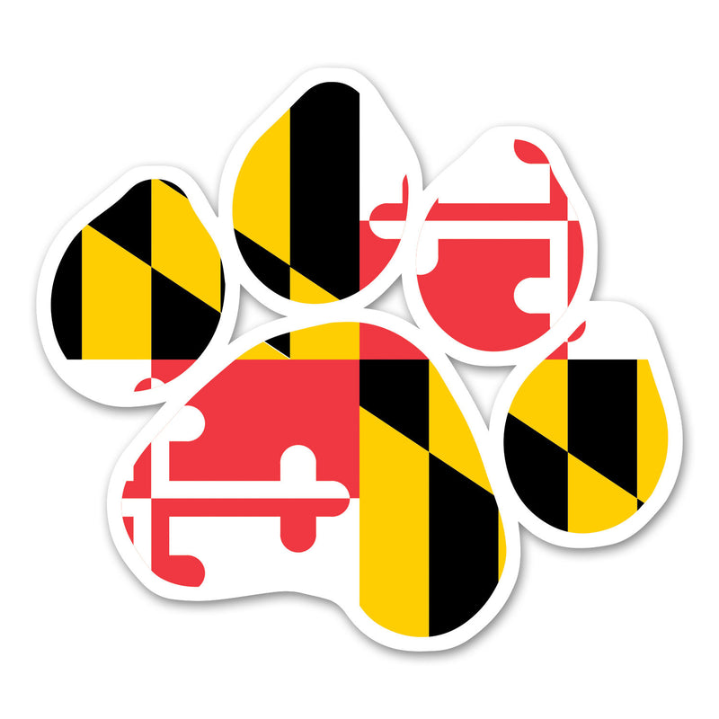 Maryland Flag Paw Print Magnet - Maryland O Mine