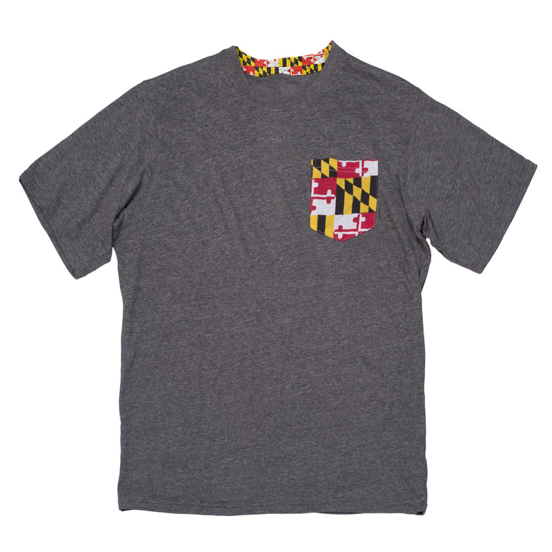 Maryland Flag Pocket Tee - Maryland O Mine