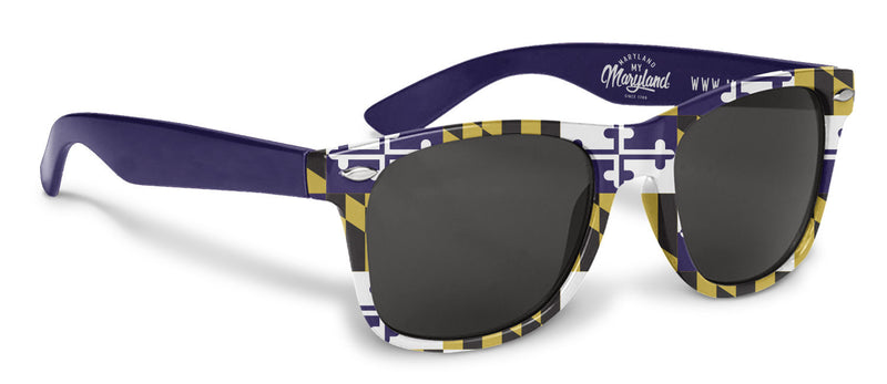 Maryland Flag Purple Sunglasses | Maryland O Mine
