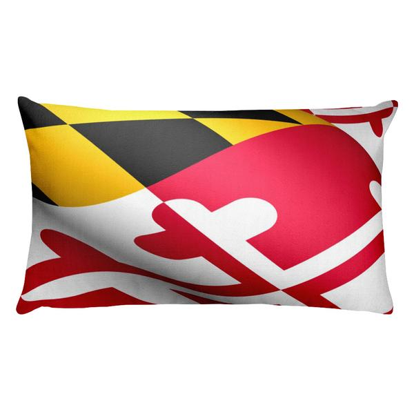Maryland Flag Rectangular Pillow - Maryland O Mine
