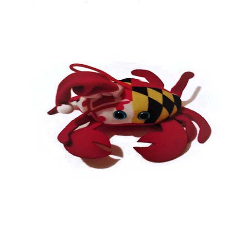 Maryland Flag Santa Crab Ornament - Maryland O Mine
