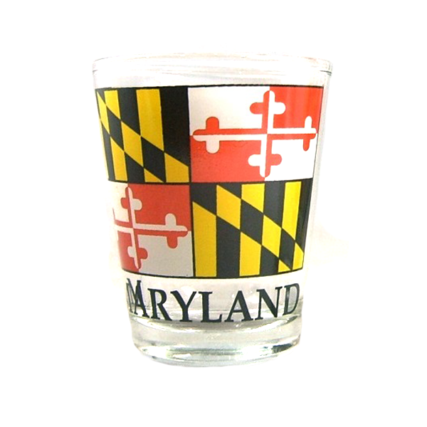 Maryland Flag Shot Glass - Maryland O Mine