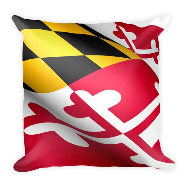 Maryland Flag Square Pillow - Maryland O Mine