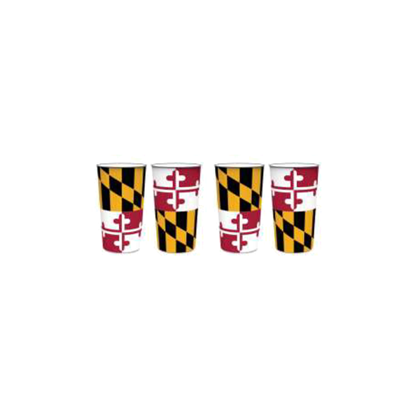 Maryland Flag Thick Plastic Cups - Maryland O Mine