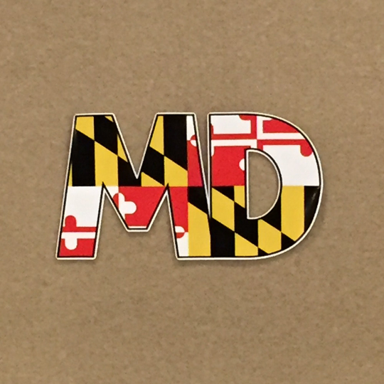Maryland Flag 'MD' Decal - Maryland O Mine