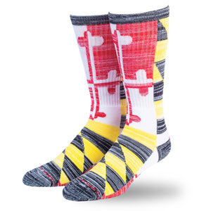 Maryland Inside Out Crew Socks - Maryland O Mine
