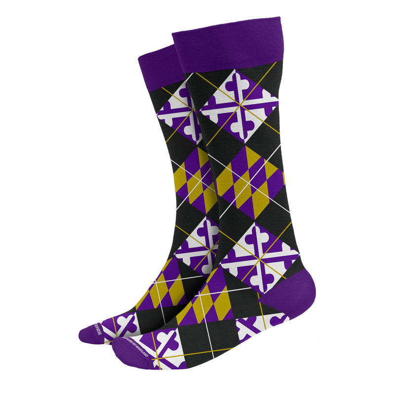 Maryland Purple Argyle Socks | Maryland O Mine
