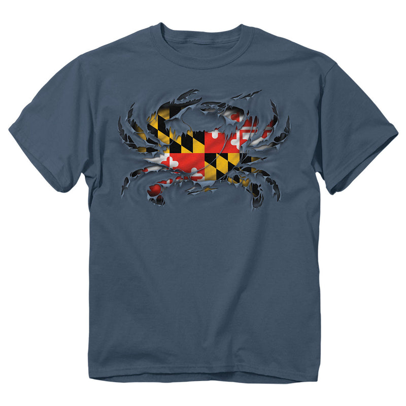 Maryland Ripped Crab T-Shirt - Maryland O Mine