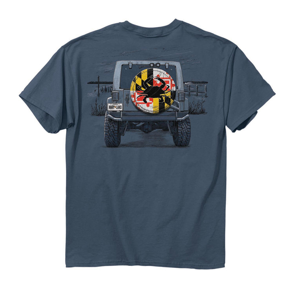 Maryland Tire Cover T-Shirt - Maryland O Mine