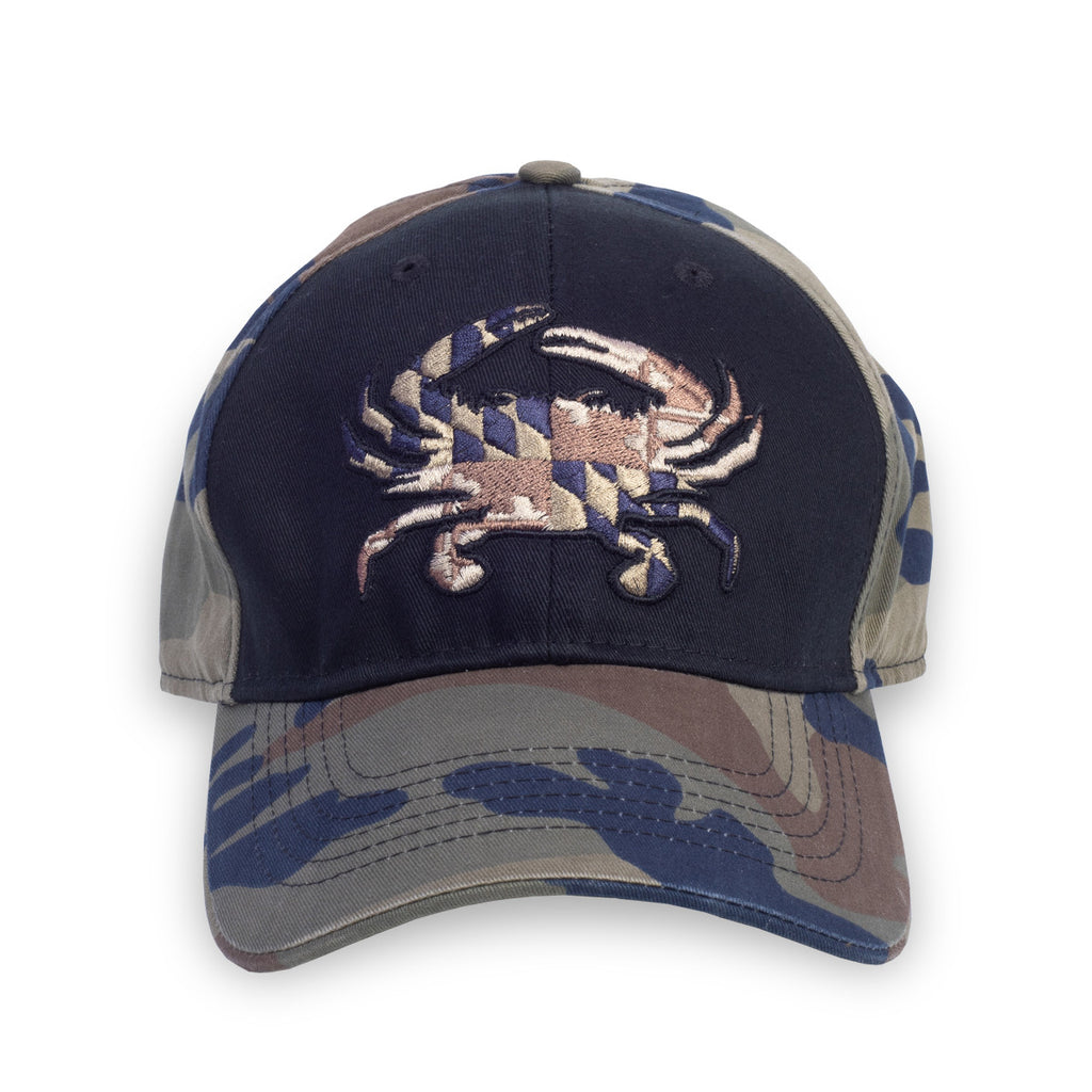 Maryland Woodland Flag Crab Hat - Maryland O Mine