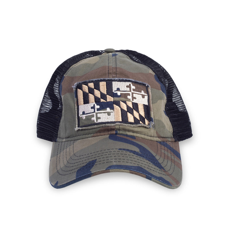 Maryland Woodland Flag Hat - Maryland O Mine