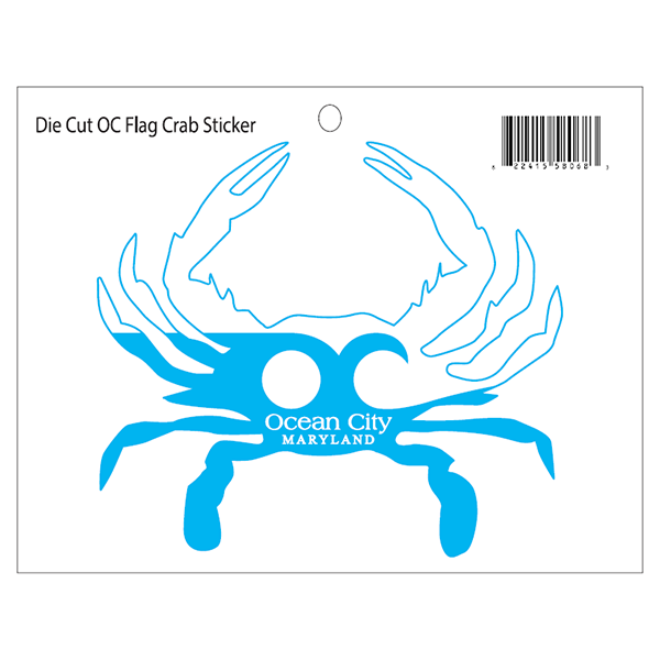 Ocean City Maryland Crab Decal Sticker - Maryland O Mine
