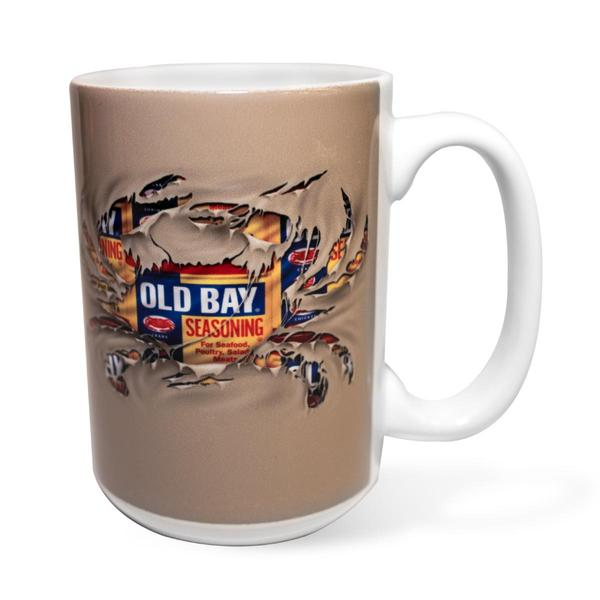 OLD BAY® Ripped Crab Coffee Mug - Maryland O Mine