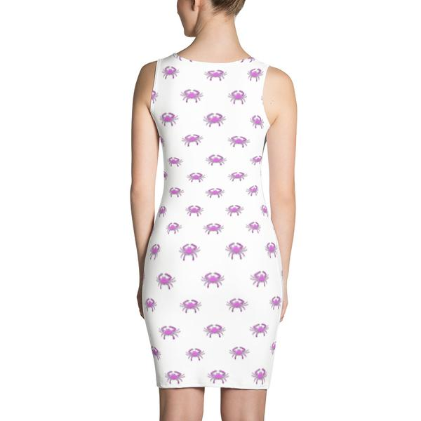Pink Crab Fitted Dress - Maryland O Mine