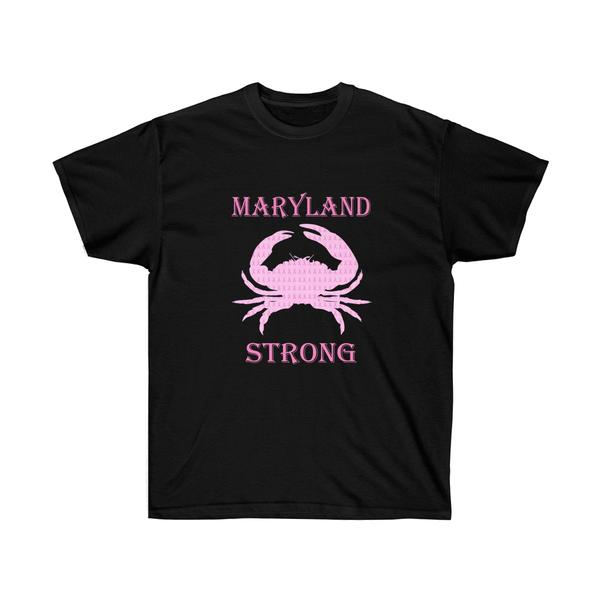 Pink Crab Maryland Strong | Black | Maryland O Mine