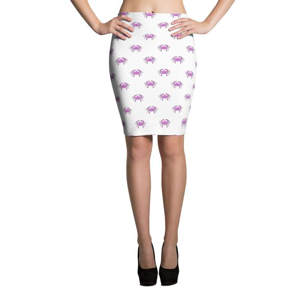 Pink Crab Pencil Skirt - Maryland O Mine